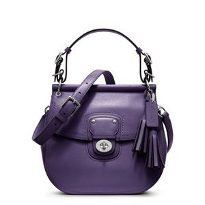 $298 coach willis legacy bag purple crossbody new